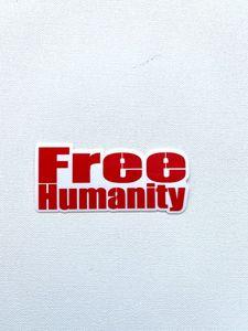 Free Humanity sticker