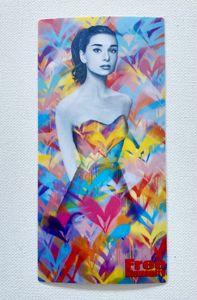 Audrey Hepburn Heart Dress Sticker