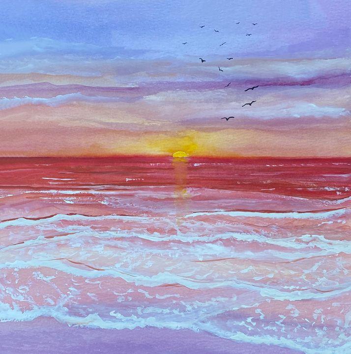 Beach Sunset - Art Alesia