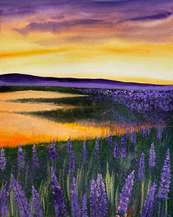 Lavender Field At Dusk(SOLD OUT) - Art Alesia