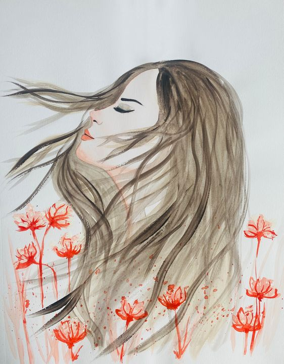 Bloom In Red - Art Alesia