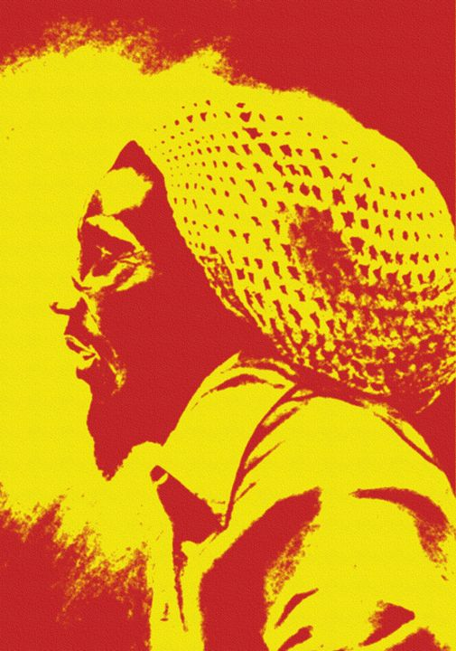 Bob Marley Sunset Sunrise - Fonck Art