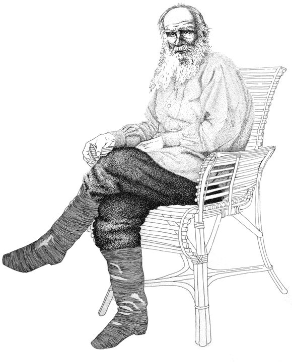 Lounging Tolstoy - Fonck Art