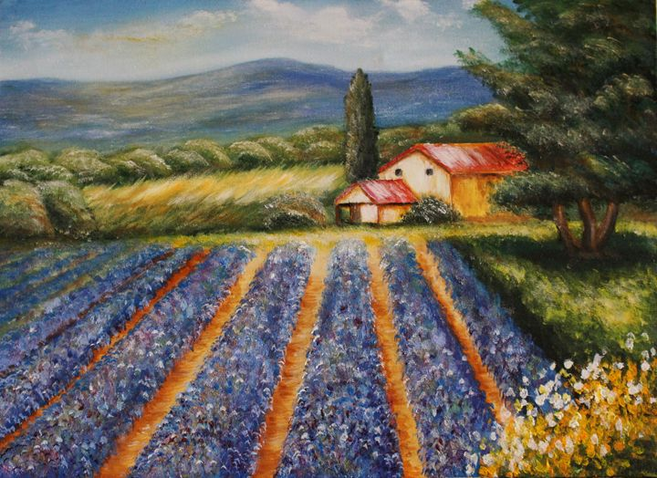 Lavender in France - Paiva Paintings