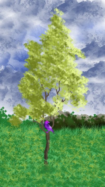 digital painting theam nature - ARTIST DIARY