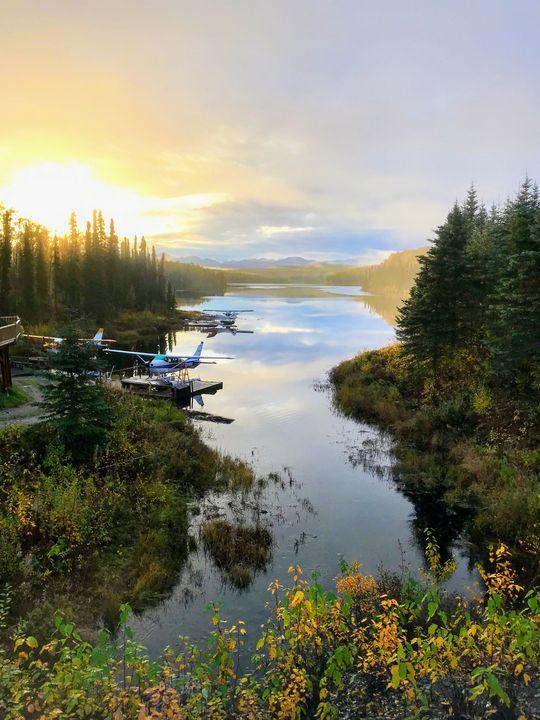 Float plane dawn - Robert Allen Originals