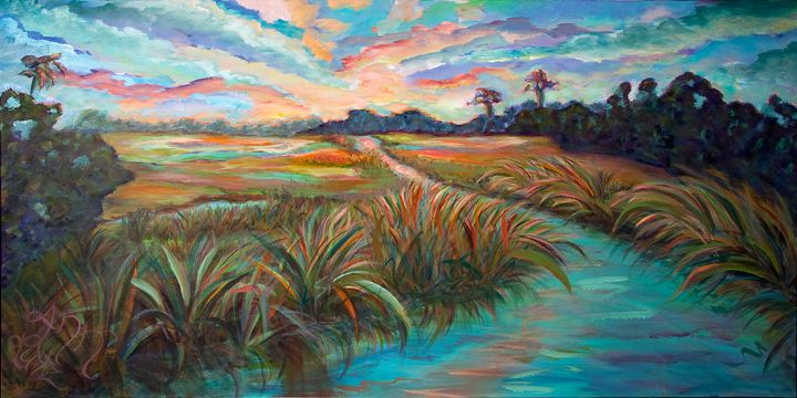 Marsh - Decorative Impressions by Ann Lutz