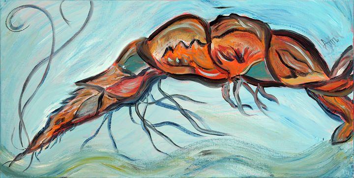 Shrimp - Decorative Impressions by Ann Lutz