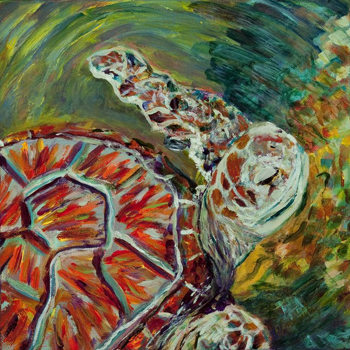 Sea Turtle - Decorative Impressions by Ann Lutz