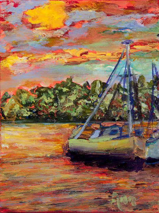 Docked - Decorative Impressions by Ann Lutz