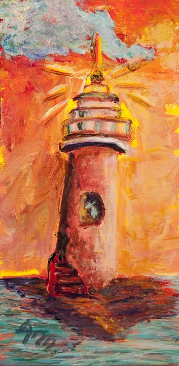 Lighthouse - Decorative Impressions by Ann Lutz