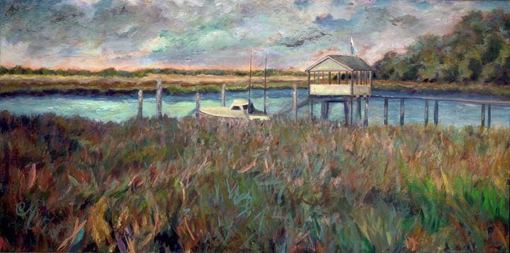 Dock - Decorative Impressions by Ann Lutz
