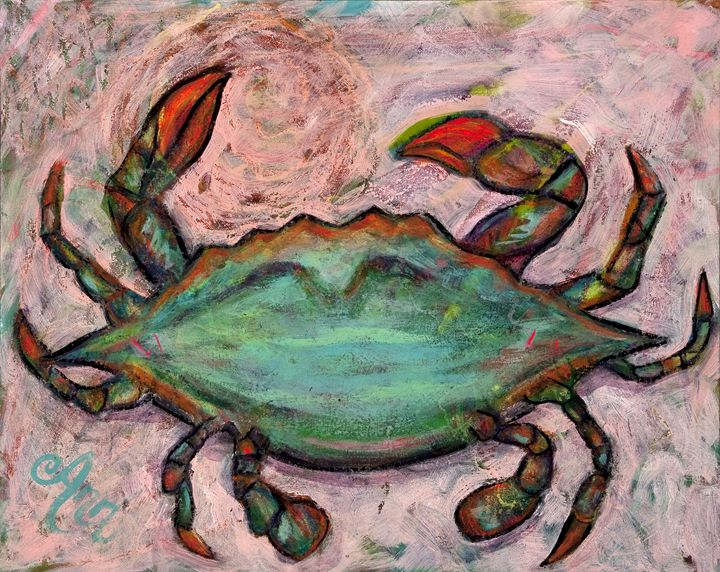 Crab - Decorative Impressions by Ann Lutz