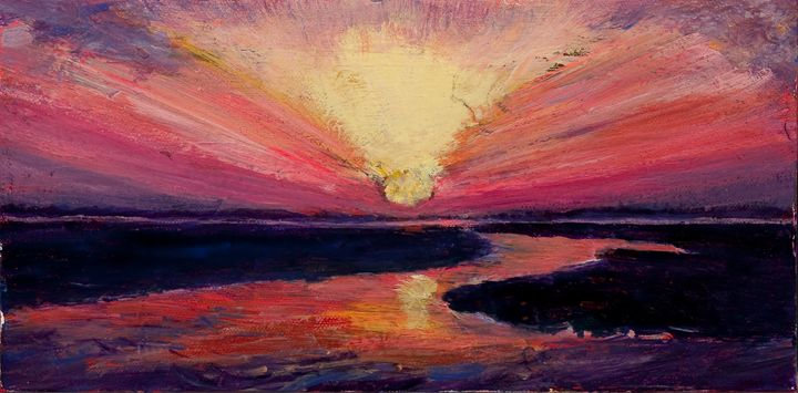 Sunset - Decorative Impressions by Ann Lutz
