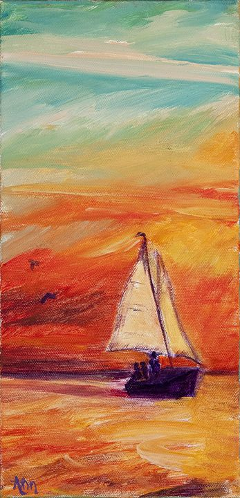 Sailing - Decorative Impressions by Ann Lutz