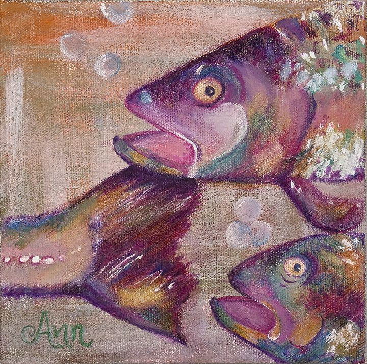 Follow the Crowd Fish - Decorative Impressions by Ann Lutz