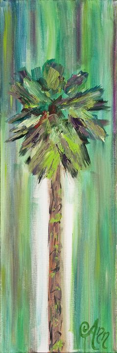 Green Palm - Decorative Impressions by Ann Lutz