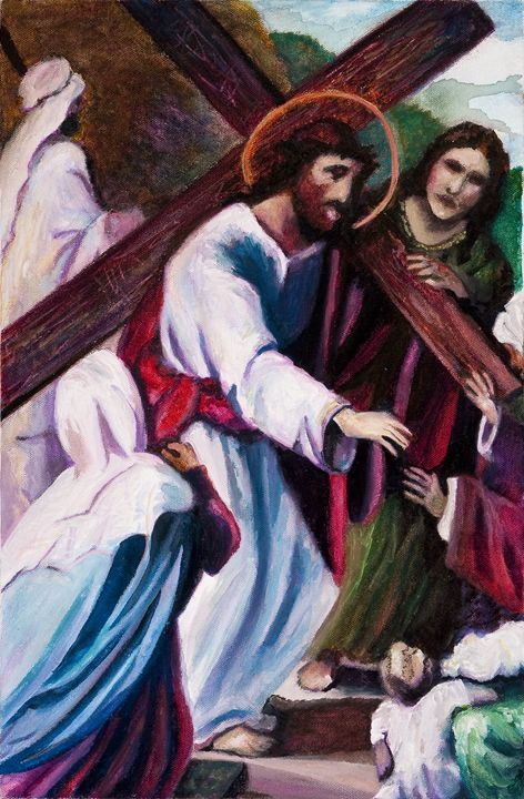 The 8th Station of the Cross - Decorative Impressions by Ann Lutz