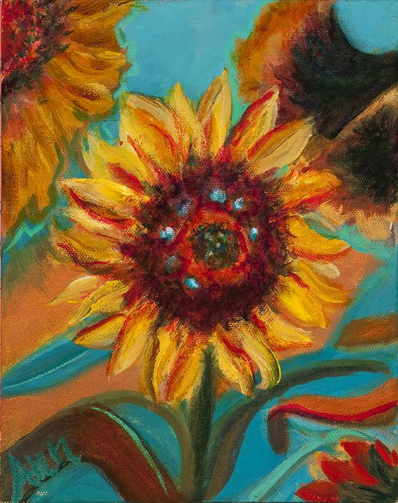 Sunflowers - Decorative Impressions by Ann Lutz