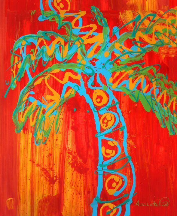 Orange Palm - Decorative Impressions by Ann Lutz