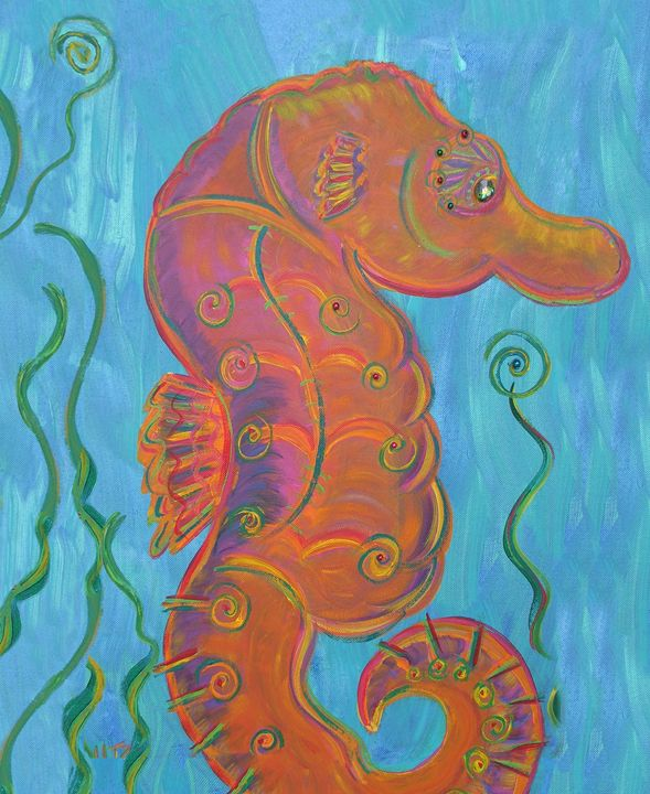 Sea Horse - Decorative Impressions by Ann Lutz
