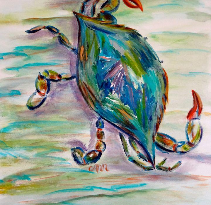 Blue Crab - Decorative Impressions by Ann Lutz