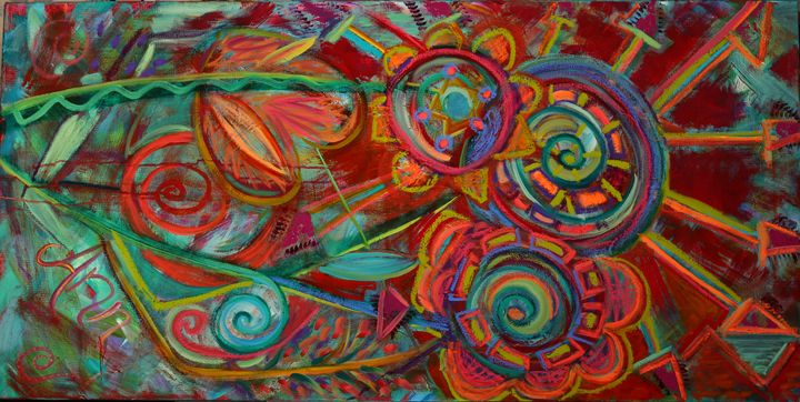 Abstract Flowers - Decorative Impressions by Ann Lutz