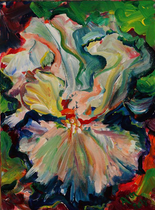 Rainbow Flower - Decorative Impressions by Ann Lutz