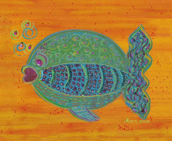 Beaded Fish - Decorative Impressions by Ann Lutz