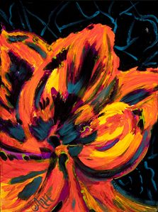 Neon Flower - Decorative Impressions by Ann Lutz
