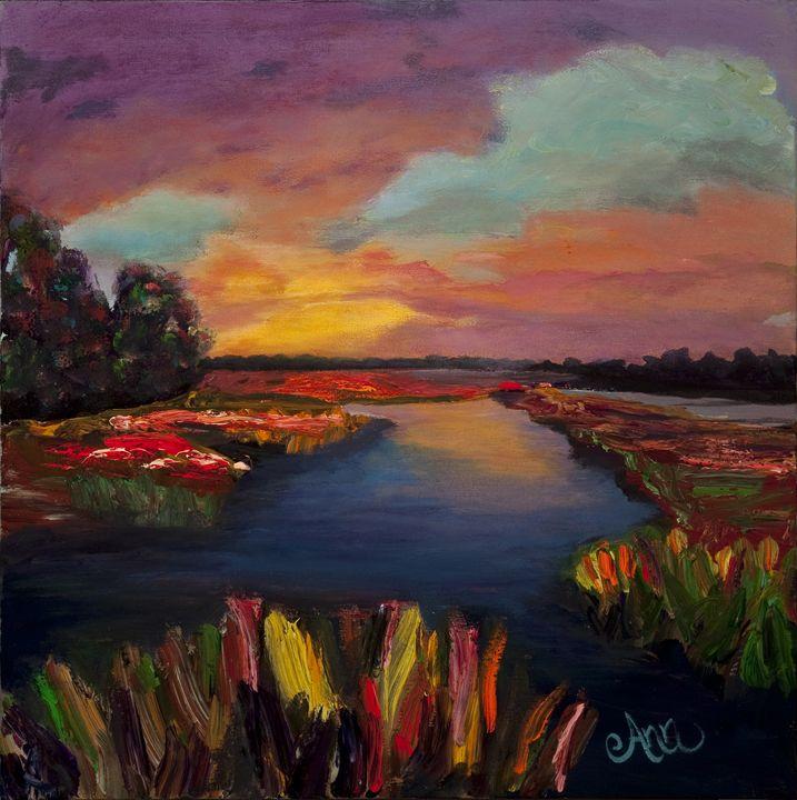 Orange Glow - Decorative Impressions by Ann Lutz