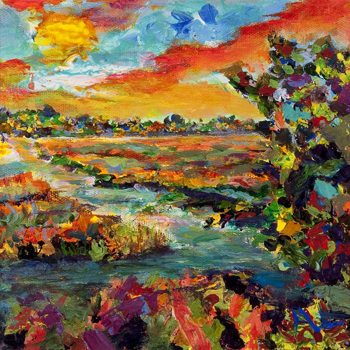 Sunset Impressions - Decorative Impressions by Ann Lutz
