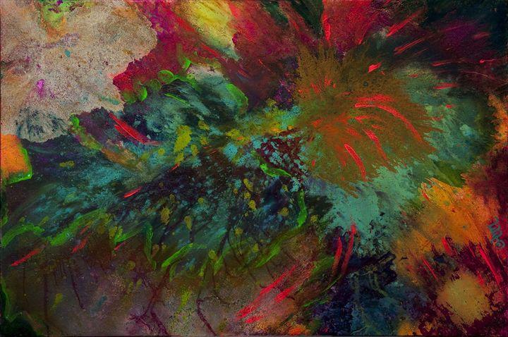 Fireworks - Decorative Impressions by Ann Lutz