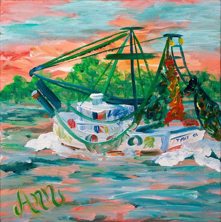 Shrimp Boat - Decorative Impressions by Ann Lutz