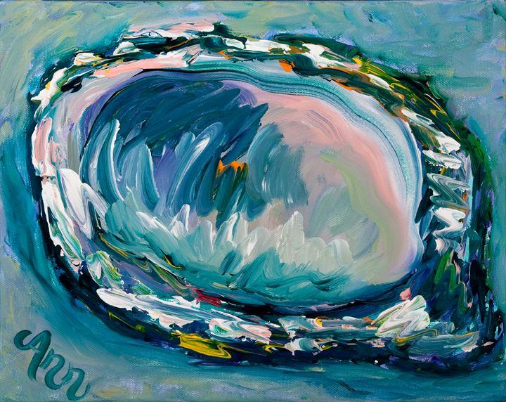 Blue Oyster - Decorative Impressions by Ann Lutz