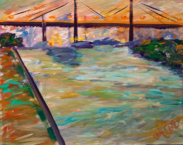 Townsend Bridge - Decorative Impressions by Ann Lutz