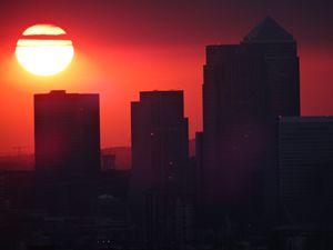 city sunset london