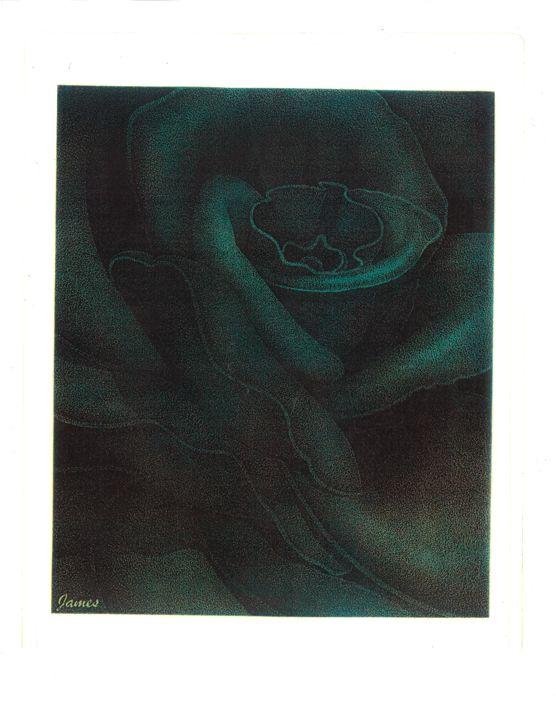 Blue Rose - GaryJamesArts.com