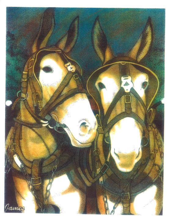 Mules - GaryJamesArts.com