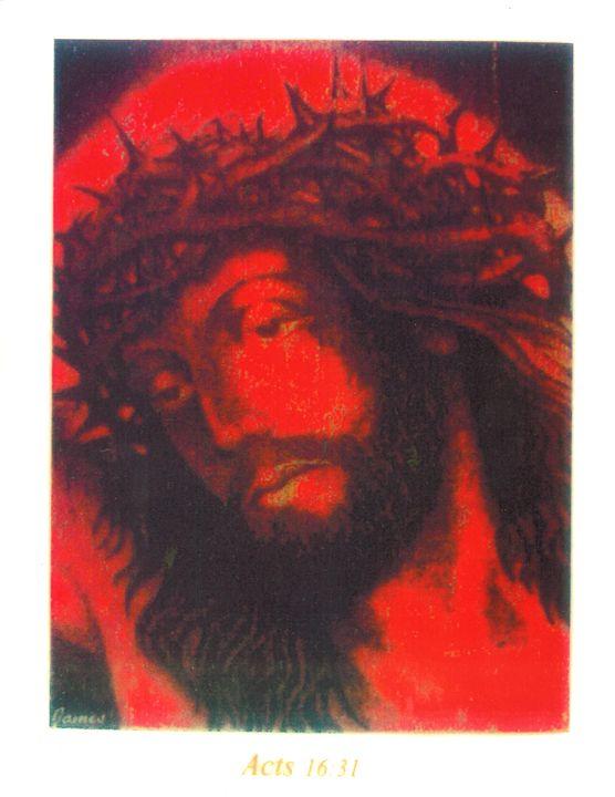 Red Jesus - GaryJamesArts.com