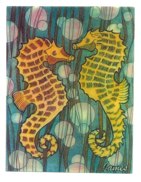 Seahorses - GaryJamesArts.com
