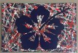 Hibiscus Splatter painting