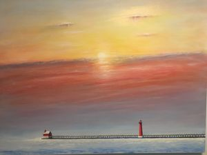 Lighthouse grand Haven Michigan