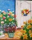Original painting ,Grandmas's Garden