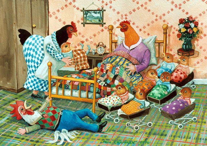 Dressed Chickens Babys - PAUL CHAPMAN FINE ART