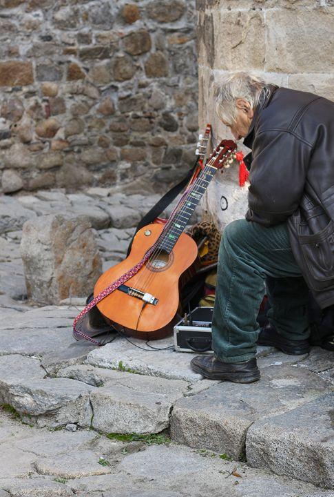 The old musician - Photography from Bulgaria