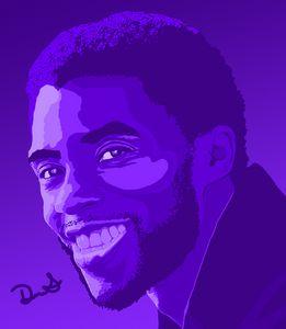 Chadwick Boseman - Purple