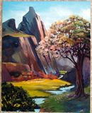 16x20 in. Mountain Scenery
