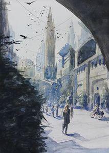 Watercolor Cityscape 1