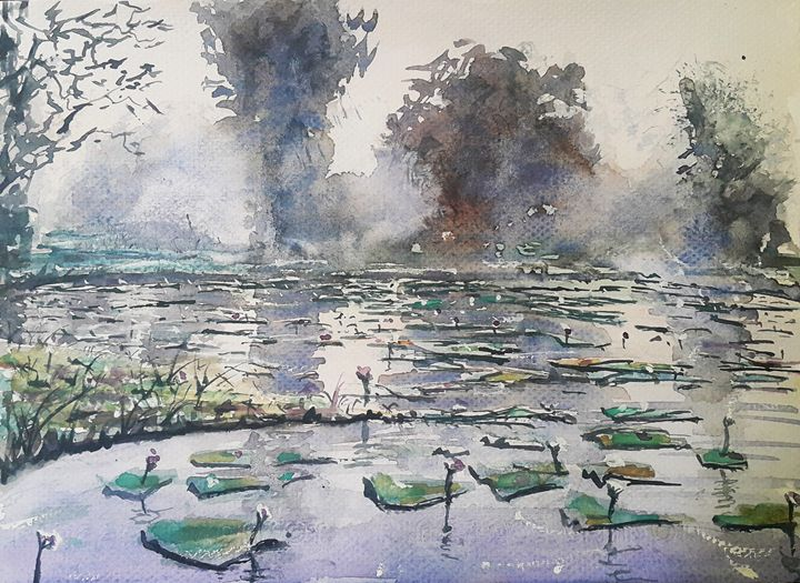 Watercolor Landscape 2 - Maroo Art